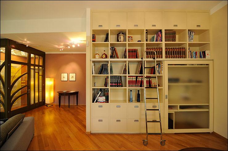 Librerie Con Scala Scorrevole In Legno.Mobili Ed Arrdamenti Arte Legno