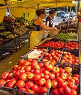 Mercato agricolo a Bibbiena Stazione