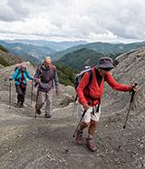Pilgrims Crossing Borders, climb to Serra Pass