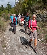 Pilgrims Crossing Borders, descent towards Corezzo