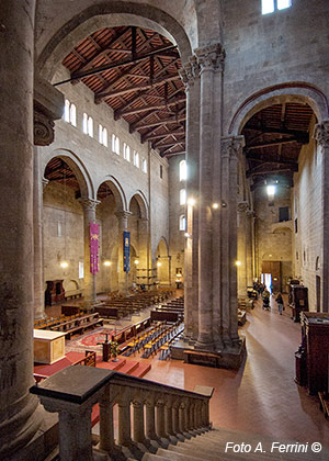 inside the Pieve of Arezzo